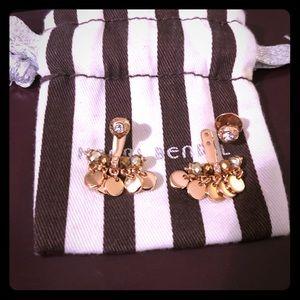 Henri Bendel Rose gold dangle & stud earrings